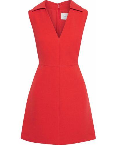 Шелковое платье мини с подкладкой на крючках Valentino
