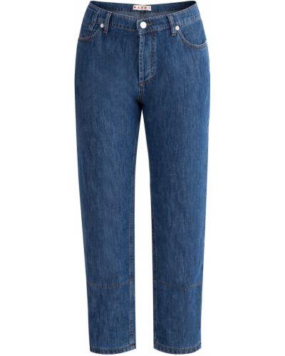 Расклешенные джинсы в полоску кюлоты Marni