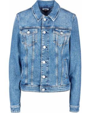 Джинсовая куртка укороченная с карманами Tommy Jeans