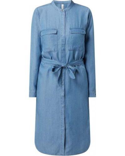 Niebieska sukienka jeansowa materiałowa Soyaconcept