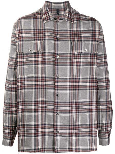 Koszula z długim rękawem prosto w kratę Stampd