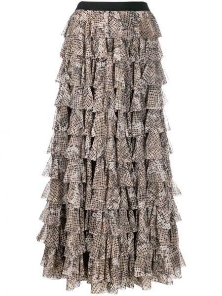 Юбка макси с завышенной талией многоярусная Norma Kamali