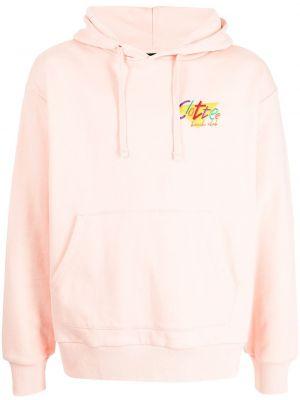 Różowy sweter z haftem Clot