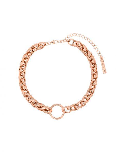 Złote różowe okulary Frame Chain