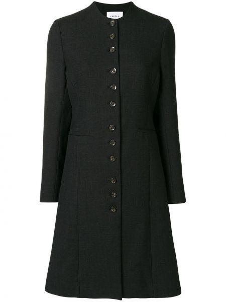 Z rękawami bawełna czarny długa kurtka z kieszeniami Enfold