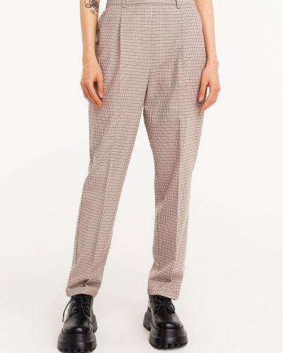 Бежевые брюки с поясом Befree