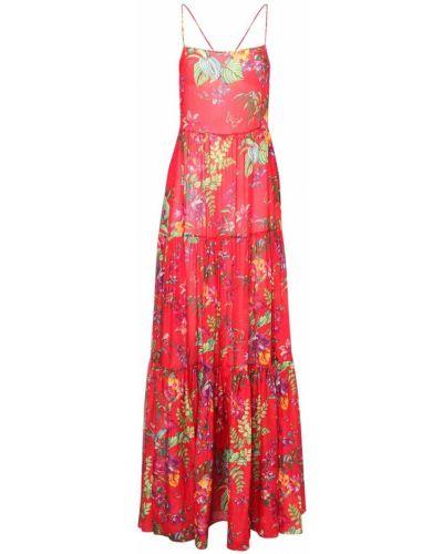 С ремешком шелковое платье макси на бретелях Etro