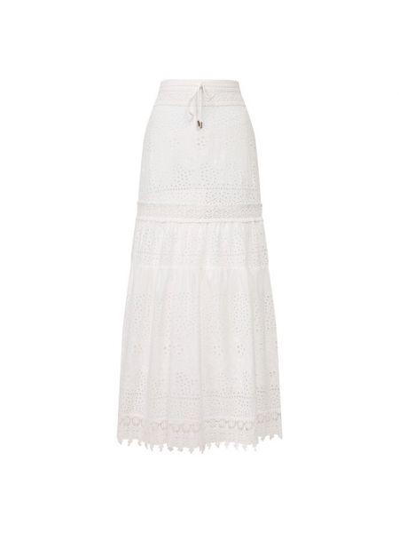 Хлопковая белая юбка с подкладкой Melissa Odabash