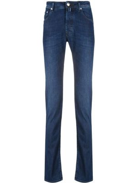 Niebieskie jeansy skorzane Jacob Cohen