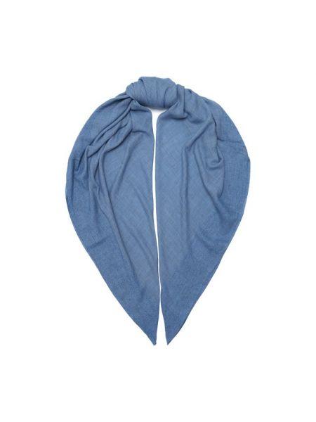 Синяя шелковая шаль Giorgio Armani