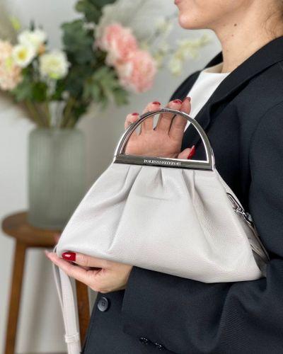 Кожаная сумка - серая Polina & Eiterou