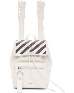 Кожаный рюкзак белый текстильный Off-white