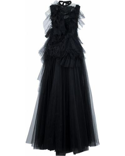 Платье макси каскадное с поясом No.21