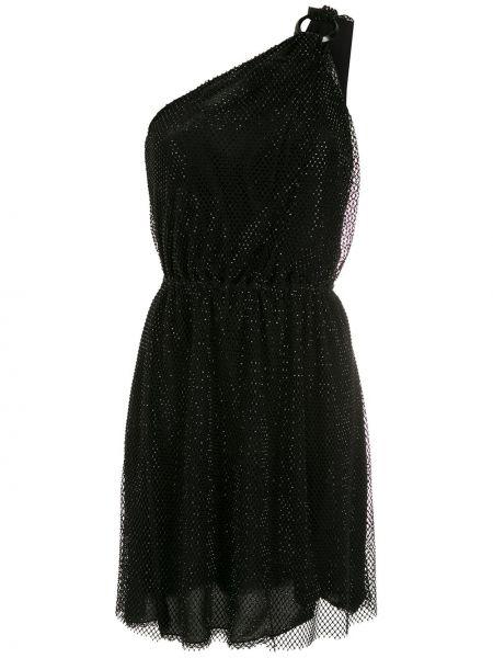 Черное платье мини без рукавов НК