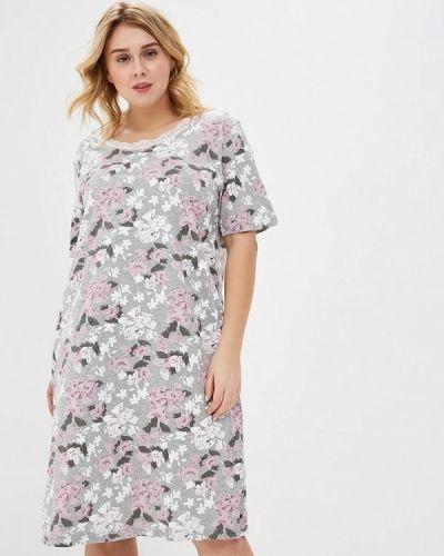 Разноцветное платье - серое Ulla Popken