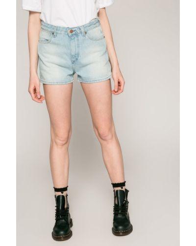 Джинсовые шорты с завышенной талией синий Wrangler