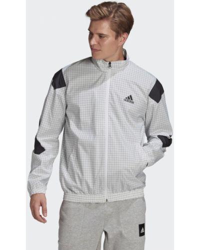 Тренировочная белая куртка Adidas
