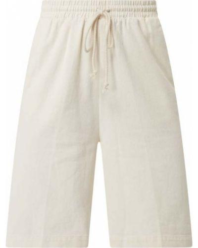 Białe bermudy bawełniane Ichi