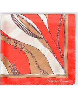 Оранжевый шелковый платок Elisabetta Franchi