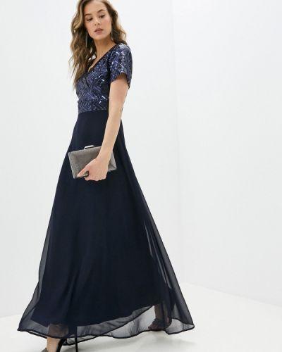 Синее вечернее платье Yumi