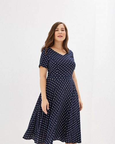 Платье прямое синее Max&style
