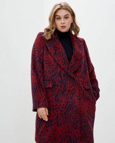 Красное пальто двубортное Persona By Marina Rinaldi