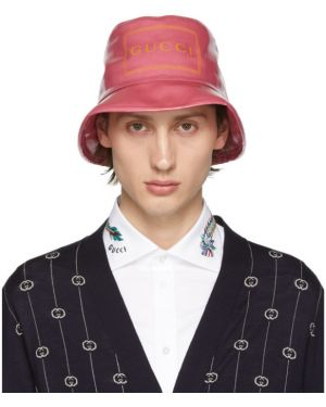 Kapelusz z logo szary Gucci