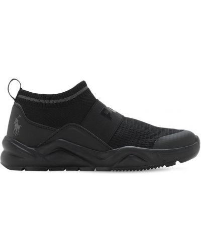 Czarny sneakersy elastyczny Ralph Lauren