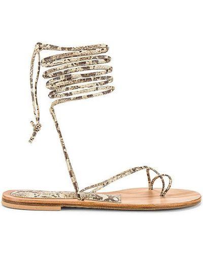 Beżowe sandały skorzane sznurowane Cornetti