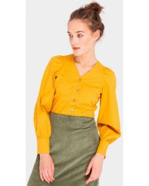 Желтая блузка с длинным рукавом Shtoyko