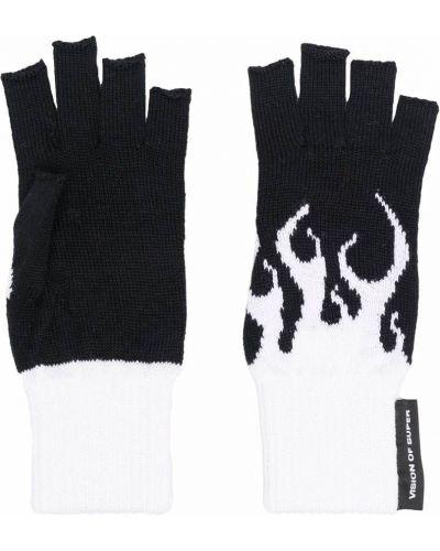 Rękawiczki bez palców wełniane - białe Vision Of Super Kids