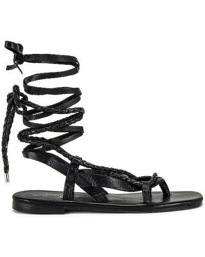 Czarne sandały skorzane kopertowe Free People