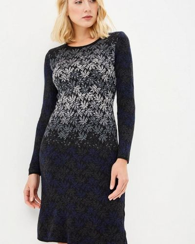Платье осеннее синее Milana Style