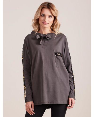 Bluzka materiałowa - szara Fashionhunters