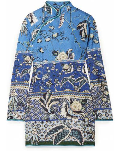 Niebieska ażurowa sukienka F.r.s For Restless Sleepers