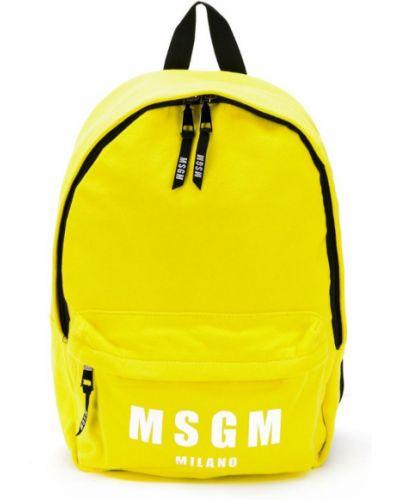 Рюкзак желтый Msgm Kids