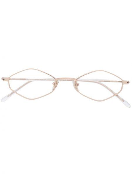 Złote czarne okulary Snob