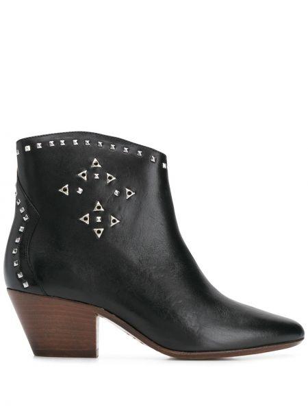 Buty na obcasie na pięcie czarne Isabel Marant