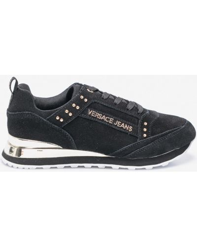 Черные кроссовки Versace Jeans