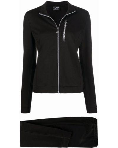 Спортивный костюм на молнии - черный Ea7 Emporio Armani