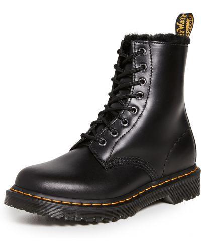 Ажурные кожаные ботинки на шнуровке Dr Martens