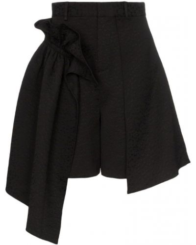 Однобортные черные шорты Shushu/tong