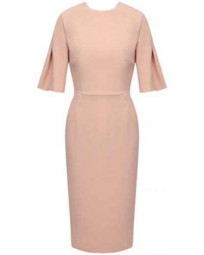 Платье из вискозы - розовое Roland Mouret