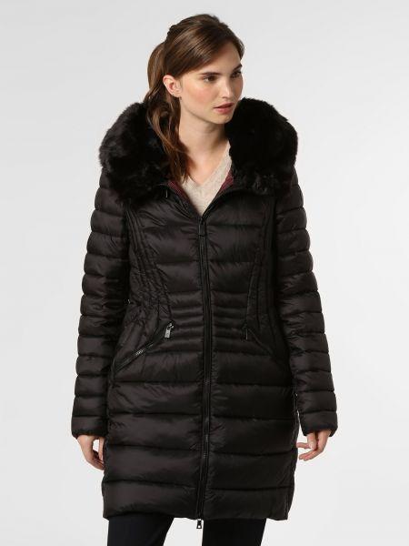 Czarny płaszcz z kapturem Creenstone