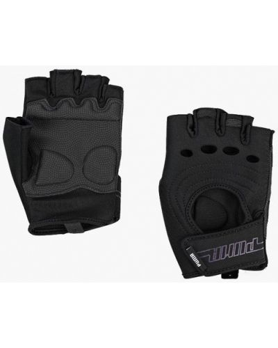 Черные перчатки для фитнеса Puma