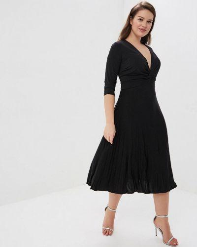 Повседневное платье итальянский черное Kitana By Rinascimento