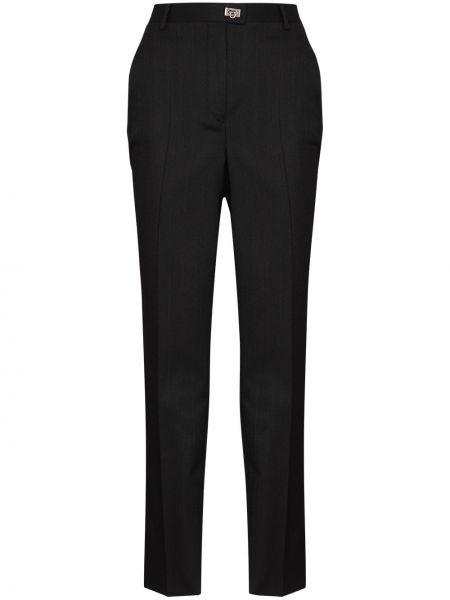 Черные шерстяные брюки Salvatore Ferragamo