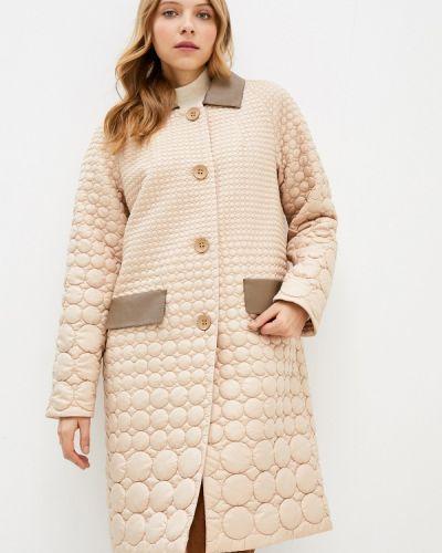 Бежевая утепленная куртка Anna Verdi
