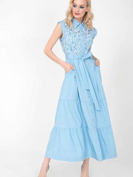 Платье - голубое Jn