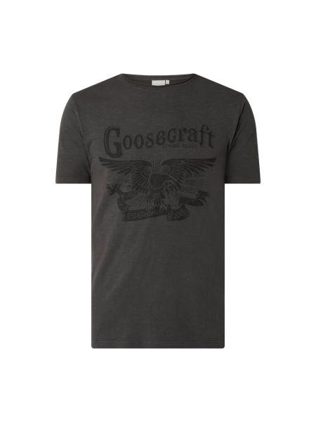 Czarny t-shirt bawełniany Goosecraft